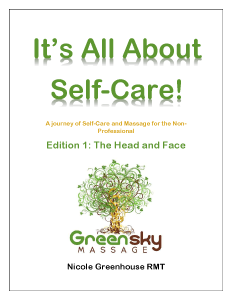 smaller cover of It's All About Self-Care by Nicole Greenhouse of Green Sky Massage